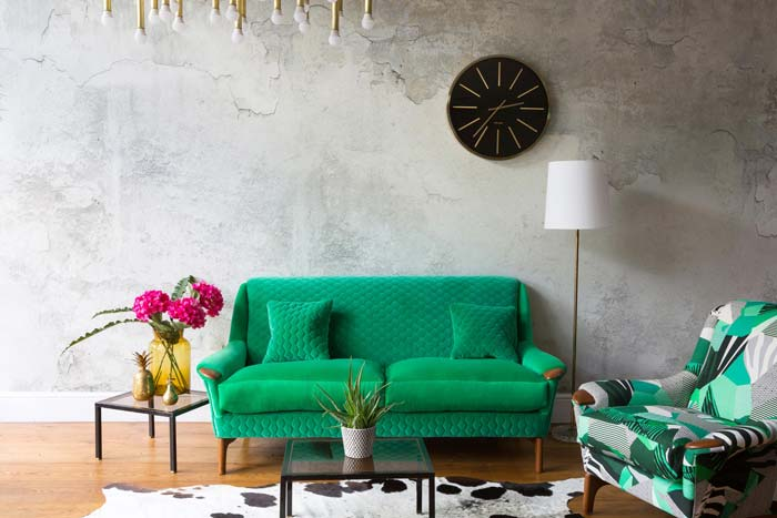 Vintique Upholstery , green sofa newly upholstered