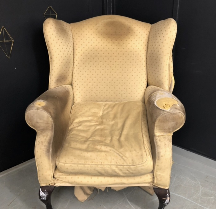Old armchair in need of reupholstering