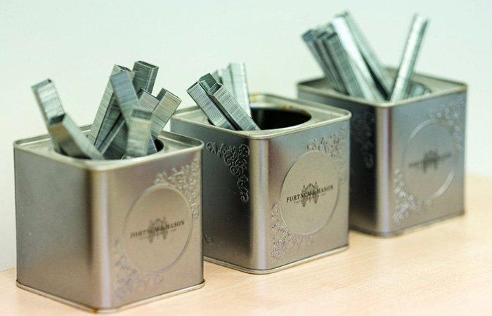 Fortnum Mason tea caddies staple holder