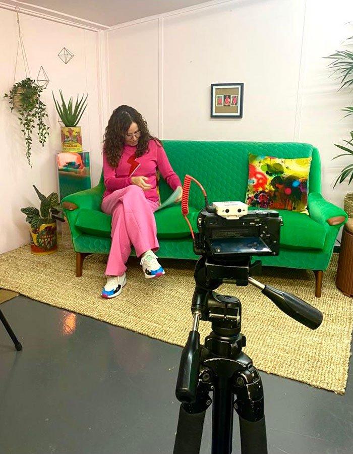Sharon O'Connor filming for Virtual Vintique