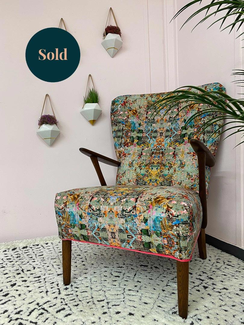 Mid Century Velvet Chair